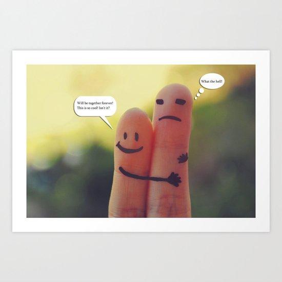 Friends/Enemies. Art Print
