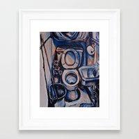oasis Framed Art Prints featuring Oasis by Rachel Hoffman