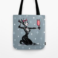 catwoman Tote Bags featuring Catwoman by ZoeStanleyArts