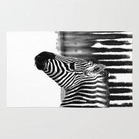 zebra Area & Throw Rugs featuring Zebra by Regan's World