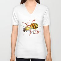 bee and puppycat V-neck T-shirts featuring Bee by Lauren Thawley