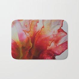 Abstract Magenta Flower Bath Mat