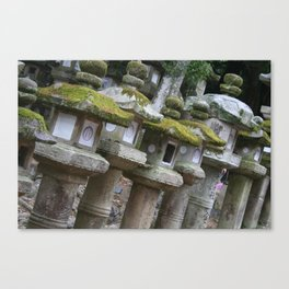 Stone Lanterns Canvas Print