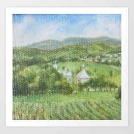 Village in Bucovina, Romania Art Print