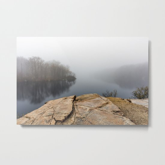 Foggy reflections Metal Print