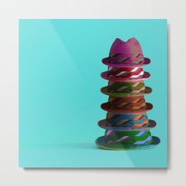 Hat Mountain Metal Print