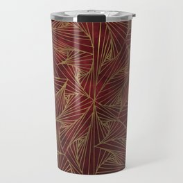 Tangles Red and Gold Travel Mug