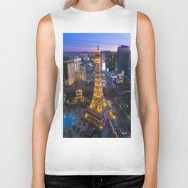 Aerial view of the Eiffel tower in Las Vegas Biker Tank
