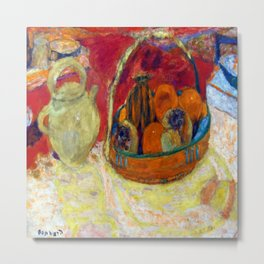 Pierre Bonnard Yellow and Red Still Life Metal Print