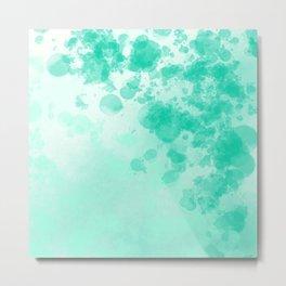 Abstract 2 - Blue Splatter Metal Print