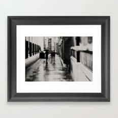 in black and white ...  Framed Art Print