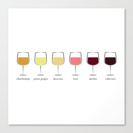 Wine Spectrum Canvas Print