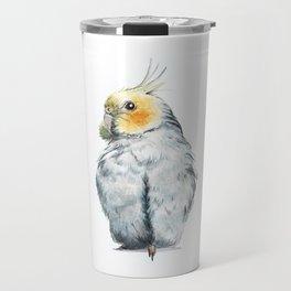 Cockatiel watercolor illustration Travel Mug