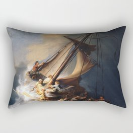 Stolen Painting - The Storm on the Sea of Galilee by Rembrandt Rectangular Pillow