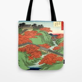 Hiroshige Temple & Mountains Tote Bag