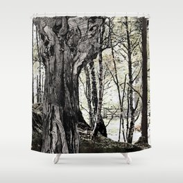 Trees have long thoughts, Shower Curtain
