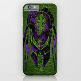 Soldier Predator Green Purple iPhone Case
