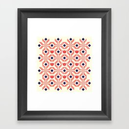 Coral Flowers Framed Art Print