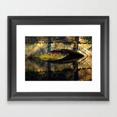 Bridge at River Westend Framed Art Print