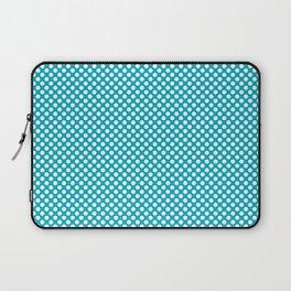 Scuba Blue and White Polka Dots Laptop Sleeve