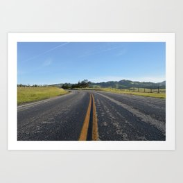 CA Road Art Print