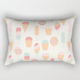 Retro ice cream Rectangular Pillow