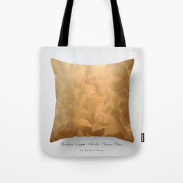 Brushed Copper Metallic Throw Pillow Art Print - Postmodernism - Jeff Koons Inspired Pop Art Tote Bag