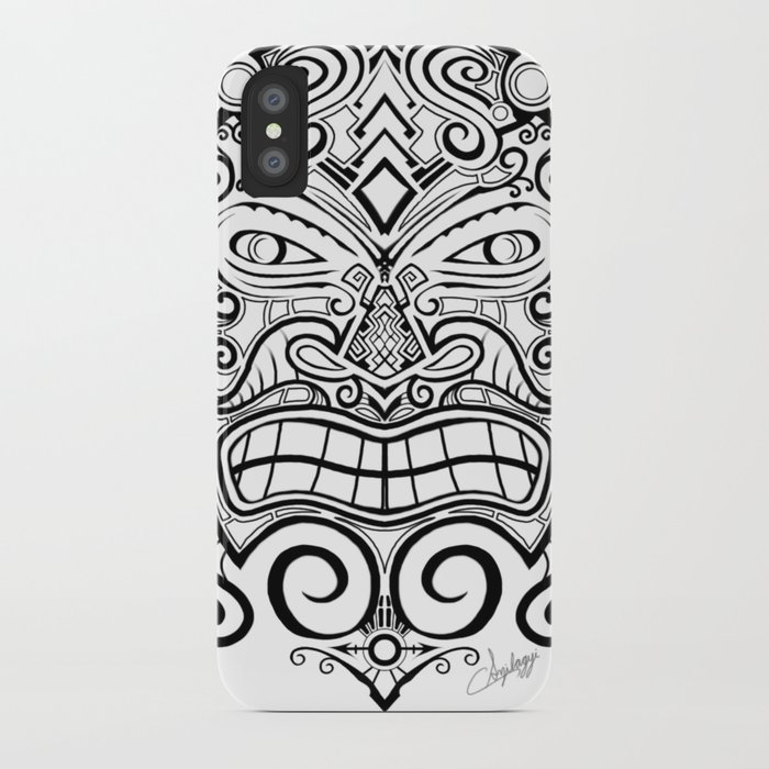 d32f5eb983d1a Tiki Mask Tattoo iPhone Case by szilagyiart7 | Society6
