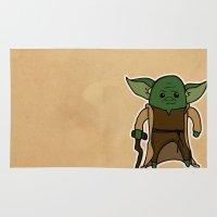 yoda Area & Throw Rugs featuring Yoda by thejrowe
