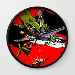 Kaiju Attack Wall Clock