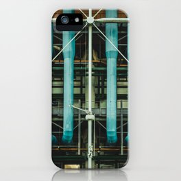 Pipes and vents - The Centre Pompidou, Paris iPhone Case