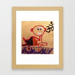 Yoga Dino Framed Art Print