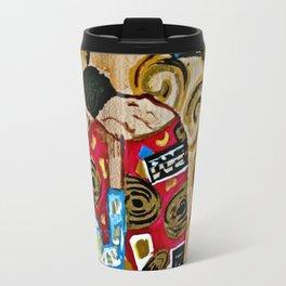 The Embrace - An Ode to Klimt Travel Mug