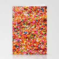 sprinkles Stationery Cards featuring Sprinkles! by MartiniWithATwist