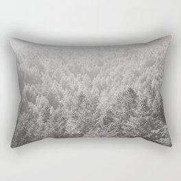 Mt Tamalpais in Shades of Gray Rectangular Pillow