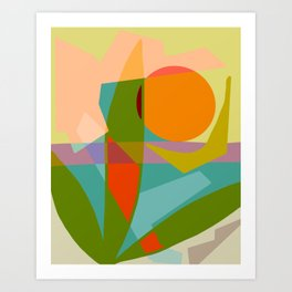 Shapes and Layers no.6 - Tropical Sunset Art Print