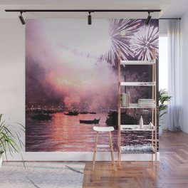 Fireworks on the harbour  Wall Mural