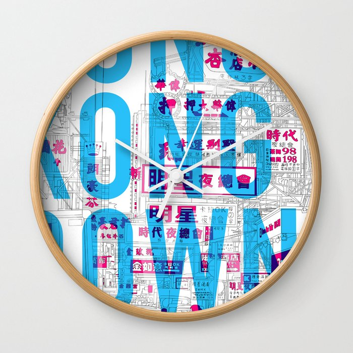 DOWNTOWN (Colorway A) Wall Clock