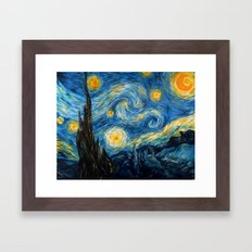 A Starry Night at Hogwarts Framed Art Print