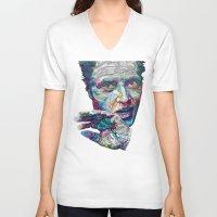 christopher walken V-neck T-shirts featuring christopher walken portrait  by Godhead