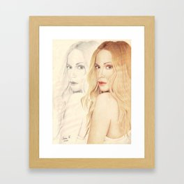 In 2 versions Framed Art Print