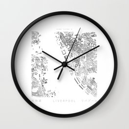 Liverpool Figure Ground Wall Clock