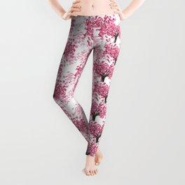 Cherry Tree Pattern Leggings