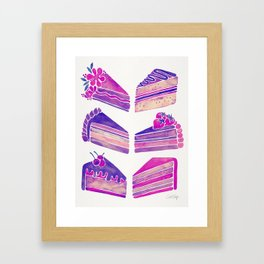 Cake Slices – Unicorn Palette Framed Art Print