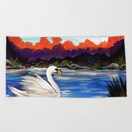Swan Life Beach Towel