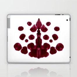 Burgundy Inkblot Pattern Rorschach Test Laptop & iPad Skin