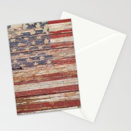 New Americana Rustic Flag Country Home Decor Patriotic Art A643 Stationery Cards