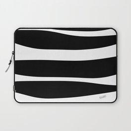 Irregular Stripes Black White Waves Art Design Laptop Sleeve