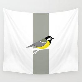 Parus Major 01 Wall Tapestry
