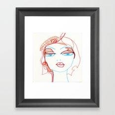 girl sketch Framed Art Print
